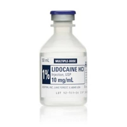 1 lidocaine hcl parenteral solution 50ml 10mg10ml