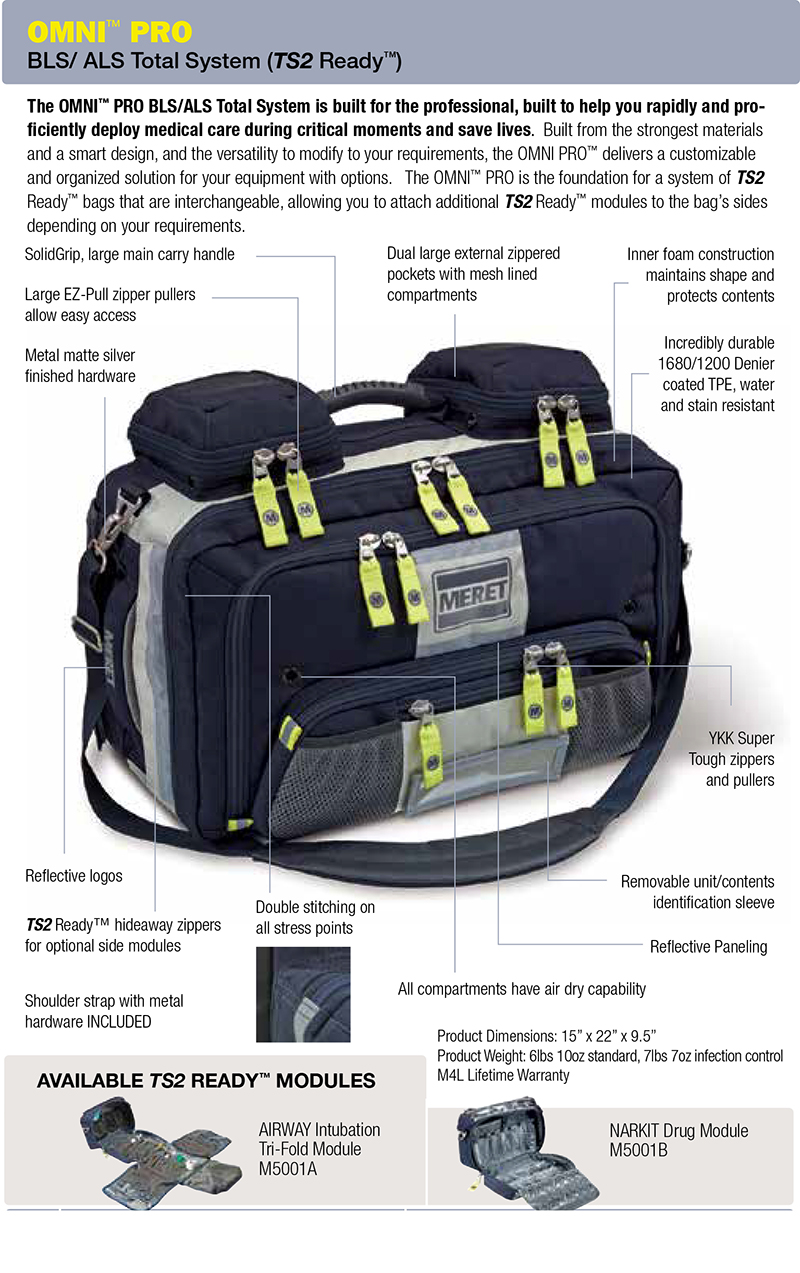 The Omni Pro Bls Als Total System Is Complete Medical Bag Built For Fire Rescue And Professionals Alike To Help You Rapidly